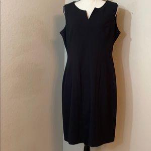 Calvin Klein sleeveless little black dress size 14